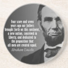 Abe Lincoln Quotation - Gettysburg Address Coaster