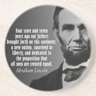Abe Lincoln Quotation - Gettysburg Address Coaster