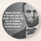 Abe Lincoln Quotation on Freedom Coaster