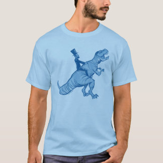 Abe Lincoln Riding A T-Rex T-Shirt