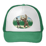 ABE LINCOLN: SASQUATCH HUNTER - Funny Bigfoot Logo Trucker Hat