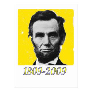 Abe Lincoln YELLOW 1809 2009 Postcard