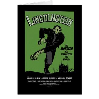 Abe Lincolnstein. Abraham Lincoln Frankenstein Greeting Card