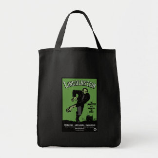 Abe Lincolnstein. the monster that terrorized... Grocery Tote Bag