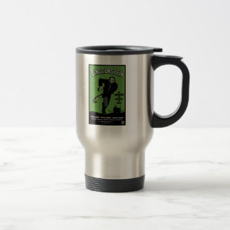 Abe Lincolnstein. the monster that terrorized... 15 Oz Stainless Steel Travel Mug