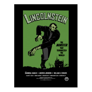 Abe Lincolnstein. the monster that terrorized... Postcards