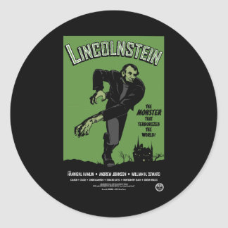 Abe Lincolnstein. the monster that terrorized... Stickers
