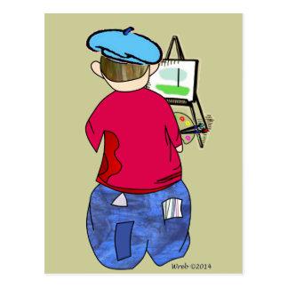 Abe R Doodle - Zee Artiste Postcard