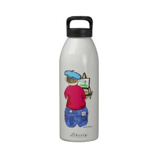 Abe R Doodle - Zee Artiste Water Bottles