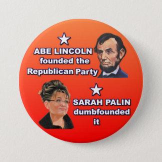 Abe & Sarah 3 Inch Round Button
