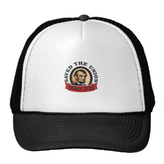 abe saved the union trucker hat