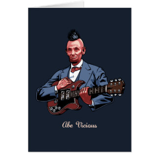 Abe Vicious Greeting Card