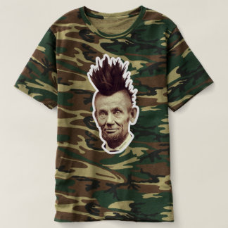 Abe with A Mohawk in Camouflage by #marelovesu T-shirt