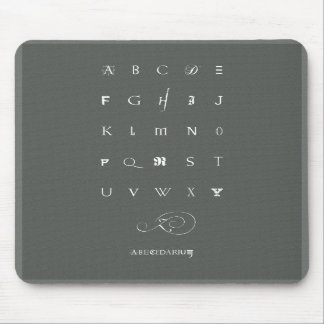 Abecedarium: mousepad, grey mouse pad