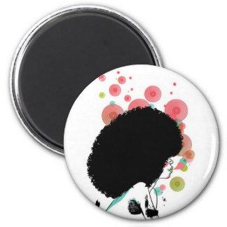Abeille de bulle magnet rond 8 cm