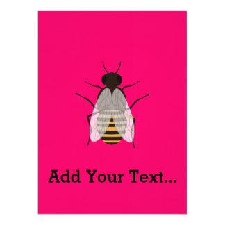 Abeille de miel carton d'invitation  13,97 cm x 19,05 cm