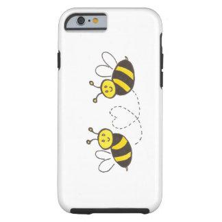 Abeilles de miel avec le coeur coque iPhone 6 tough