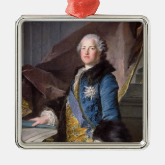 Abel Francois Poisson  Marquis de Marigny, 1755 Silver-Colored Square Ornament