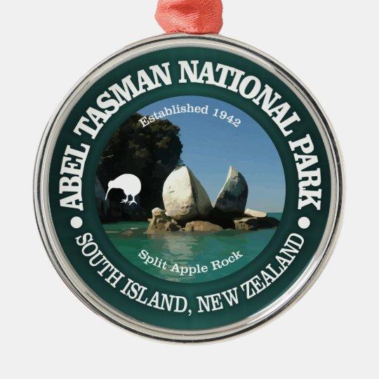 Abel Tasman NP Silver-Colored Round Ornament