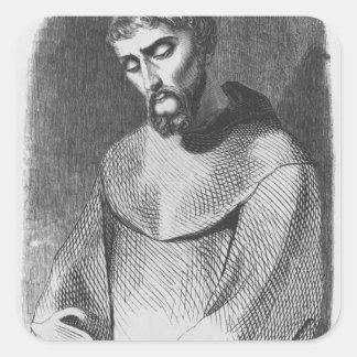 Abelard as monk at Saint-Gildas-de-Rhuys Square Sticker