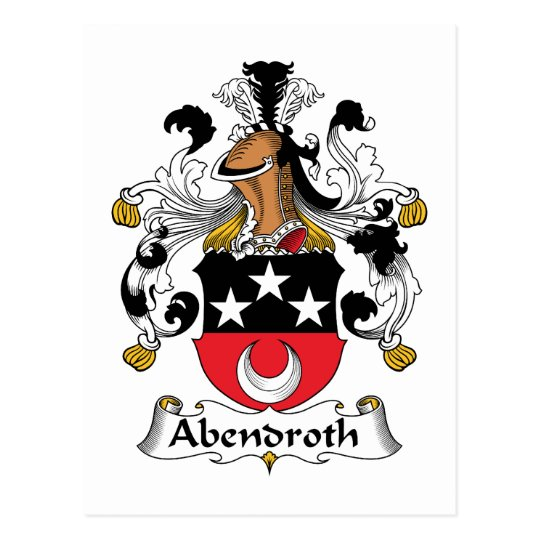 Abendroth Family Crest Postcard