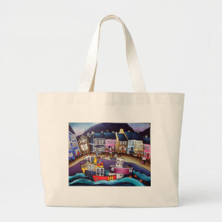 Aberaeron-catch-of-the-day Large Tote Bag