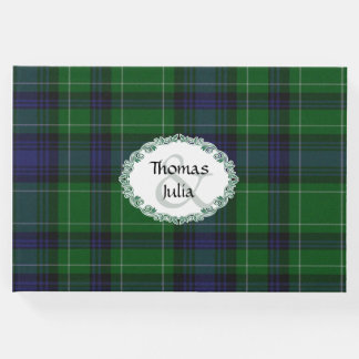 Abercrombie Plaid Wedding Guest Book