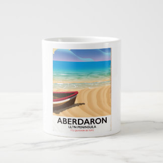 Aberdaron, Llŷn Peninsula Wales seaside poster Large Coffee Mug
