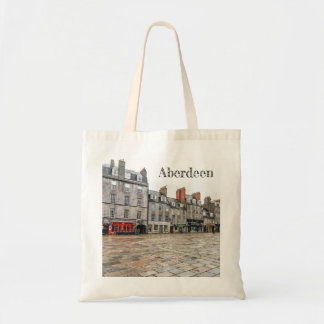 Aberdeen Castlegate buildings tote bag