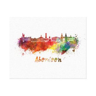 Aberdeen skyline in watercolor canvas print