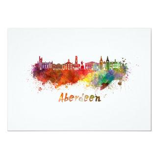 Aberdeen skyline in watercolor card