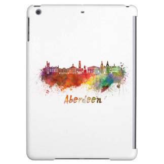 Aberdeen skyline in watercolor iPad air cases