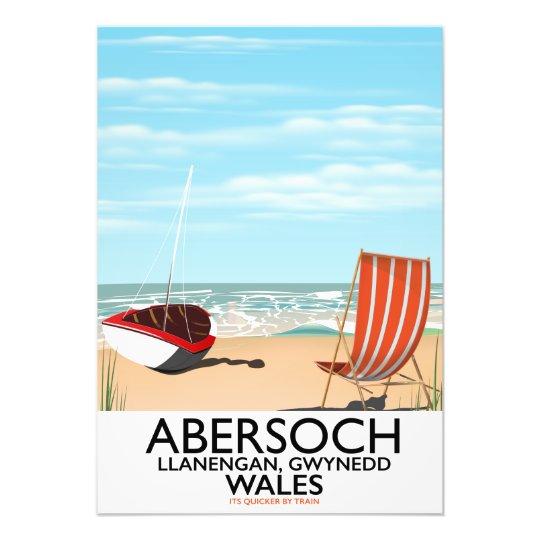 Abersoch Llanengan in Gwynedd, Wales travel poster