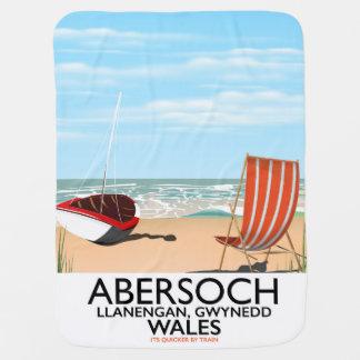 Abersoch Llanengan in Gwynedd, Wales travel poster Baby Blanket