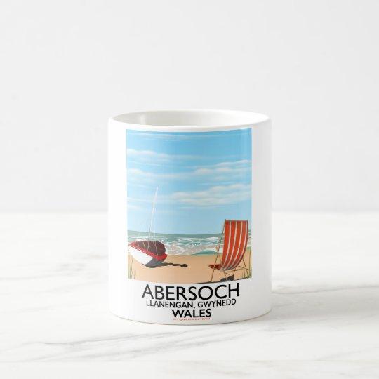 Abersoch Llanengan in Gwynedd, Wales travel poster Coffee Mug