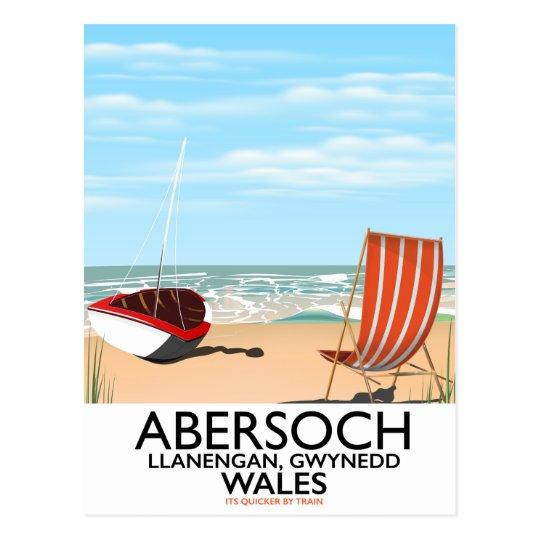Abersoch Llanengan in Gwynedd, Wales travel poster Postcard