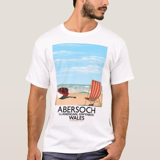 Abersoch Llanengan in Gwynedd, Wales travel poster T-Shirt