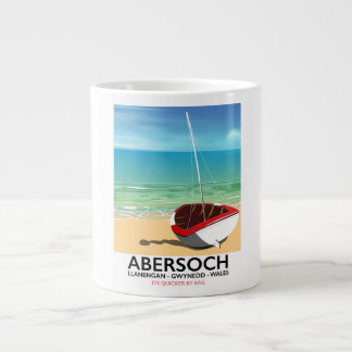 Abersoch, Llanengan  Wales travel poster Large Coffee Mug