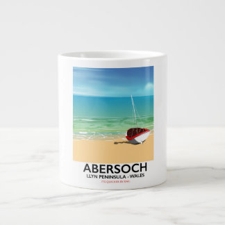Abersoch, Llyn Peninsula Wales holiday poster Large Coffee Mug