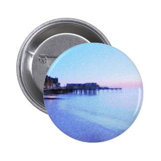Aberystwyth Sea Front 2 Inch Round Button