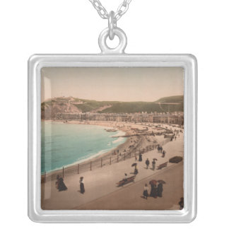Aberystwyth Seaside, Ceredigion, Wales Silver Plated Necklace