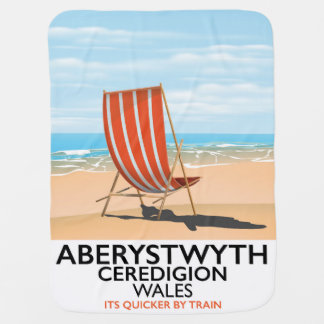 Aberystwyth Wales seaside travel poster Baby Blanket