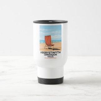 Aberystwyth Wales seaside travel poster Travel Mug