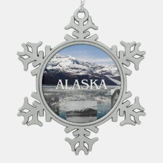 ABH Alaska Snowflake Pewter Christmas Ornament