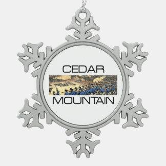 ABH Cedar Mountain Pewter Snowflake Ornament