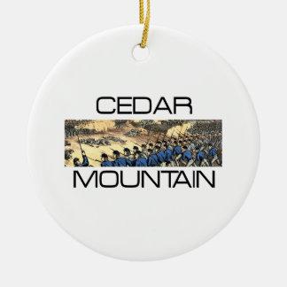 ABH Cedar Mountain Round Ceramic Ornament