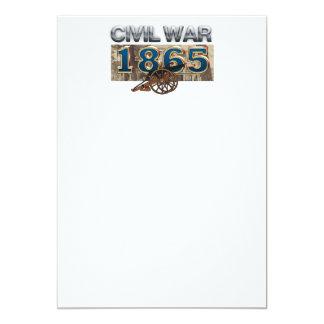 "ABH Civil War 1865 5"" X 7"" Invitation Card"