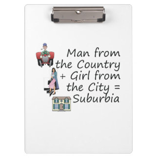 ABH Country Man City Girl Clipboards