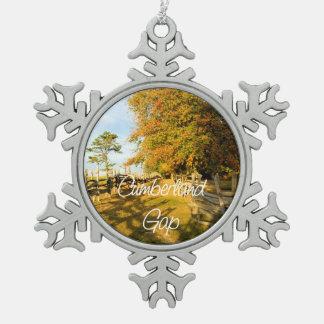 ABH Cumberland Gap Snowflake Pewter Christmas Ornament