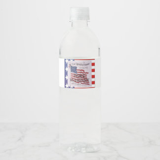 ABH Fort McHenry Water Bottle Label
